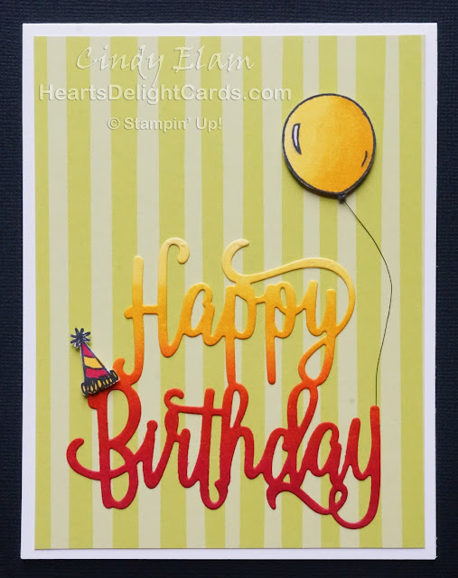 Heart's Delight Cards, Bird Banter, Happy Birthday, Stampin' Up!, Occasions 2018, Sale-A-Bration 2018,