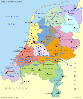 Provinzen Niederlande Karte Holland