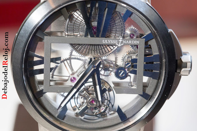 ULysse Nardin Executive Skeleton Tourbillon Titanium dial