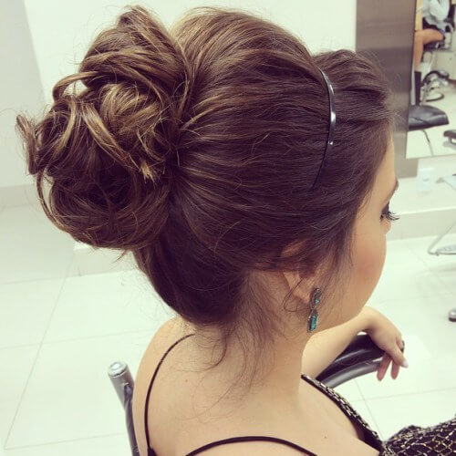 bun updos for long hair , french ,a bouffant