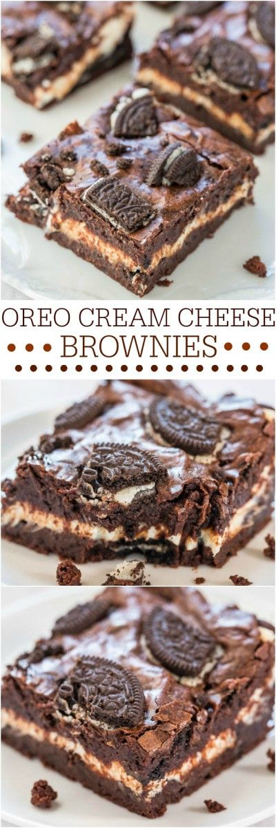 Oreo Cream Cheese Brownies Recipe