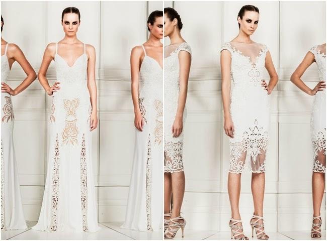 Zuhair Murad white lace dresses
