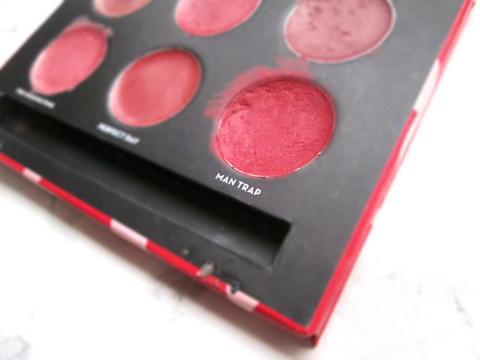Soap & Glory red lipstick palette