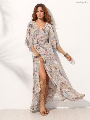 Vestidos estampados Largos de Fiesta