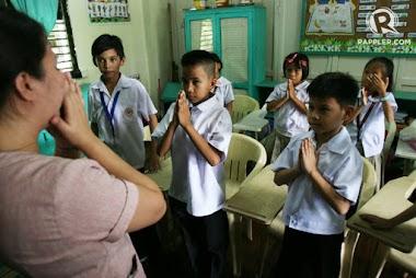 La lengua de signos filipina oficial en las escuelas