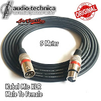 Kabel Mic XLR Male To Female Canon Canare 5 Meter