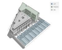 Assonometria del progetto Easydora a Torino