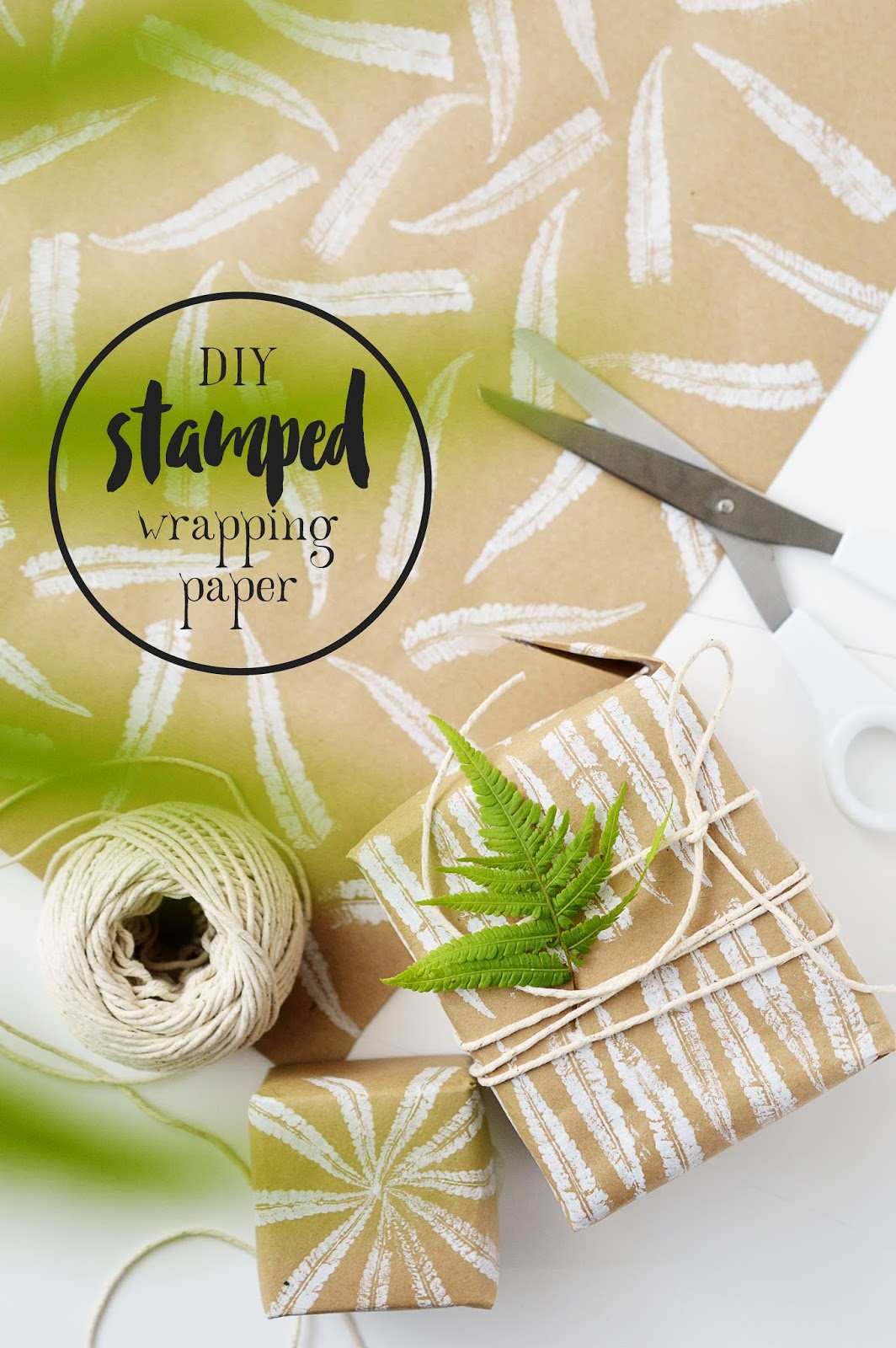 Ferntastic | DIY STAMPED WRAPPING PAPER