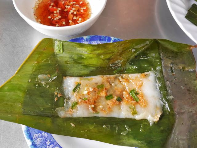 Delicious Banh Nam or streamed rice shrimp cake