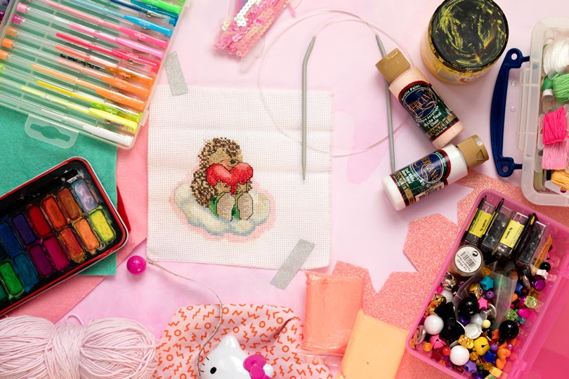 craft diy flatlay