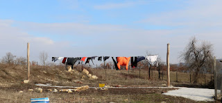 Lovely weather for drying washing outside