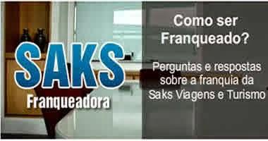 Franquia Saks viagens:
