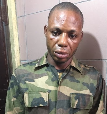 fake soldier arrested stealing okada