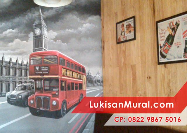 Lukisan 3d Dinding interior