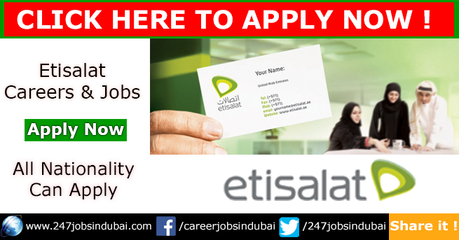 Recruiting Now at Etisalat Jobs and Careers
