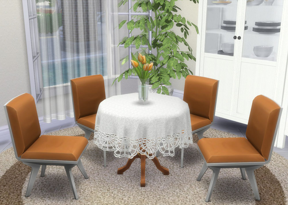 Corporation Quot Simsstroy Quot The Sims 4 Tablecloth Round Set 03