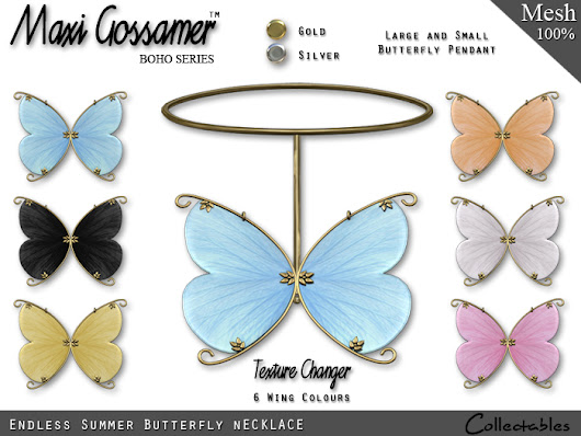 Endless Summer Butterfly Necklace and Matching Earrings