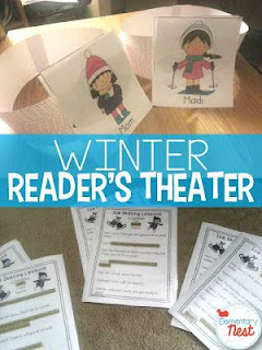 Winter Readers Theater plus a few FREEBIES- blog post highlighting hands-on activities for kids