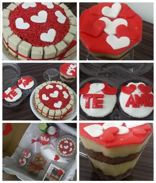 Festa na Caixa - Tema Romântica Vermelha e Branca