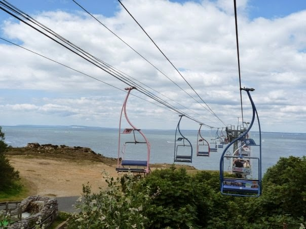 Alum Bay's chairlift on the Isle of Wight