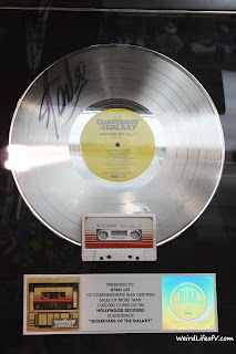 Guardians of the Galaxy Soundtrack's platinum record signed by Stan Lee