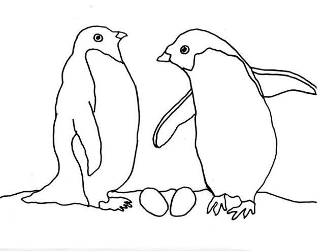 Gambar Mewarnai Pinguin - 5