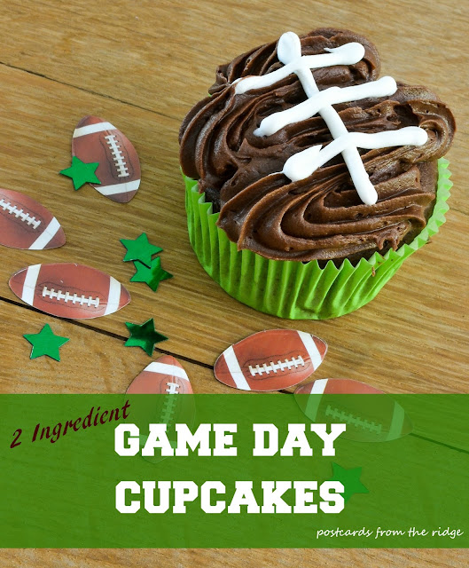 2 Ingredient Game Day Cupcakes ~ Postcards from the Ridge