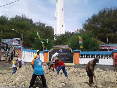 200 Warga Dekat Menara Suar Samas Ikut Padat Karya