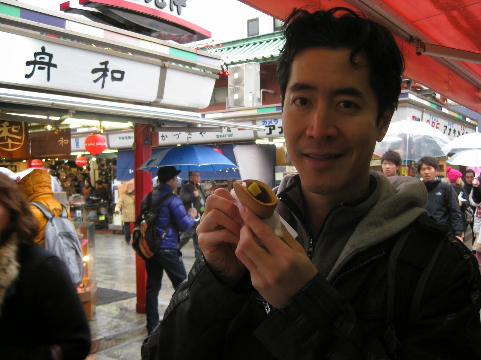 Tokyo - My husband enjoys a red bean dessert