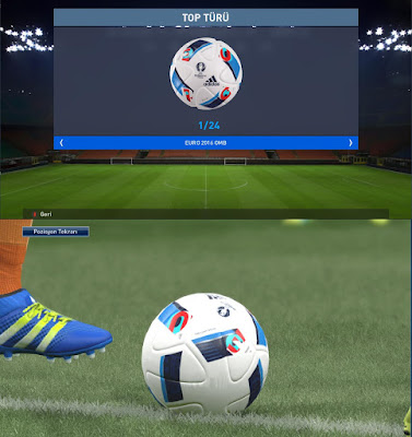 Euro 2016 Ball For Exhibition For Pes 2016 by onur52