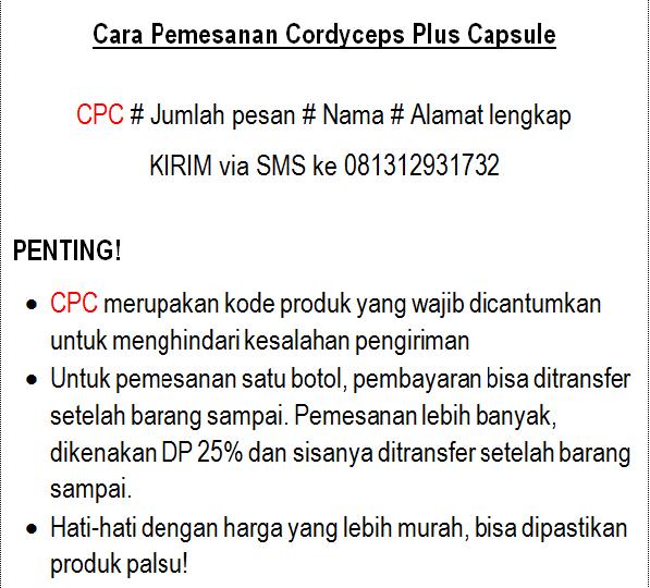 cara pesan cordyceps kode cpc