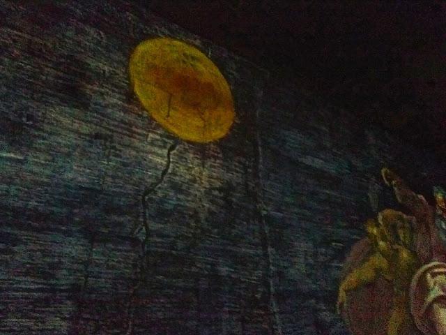 Michel Ange : La création du monde : le soleil carrière des Baux année 2015 Les trois géants de la Renaissance Michel Ange, Raphaël, Léonard de Vinci