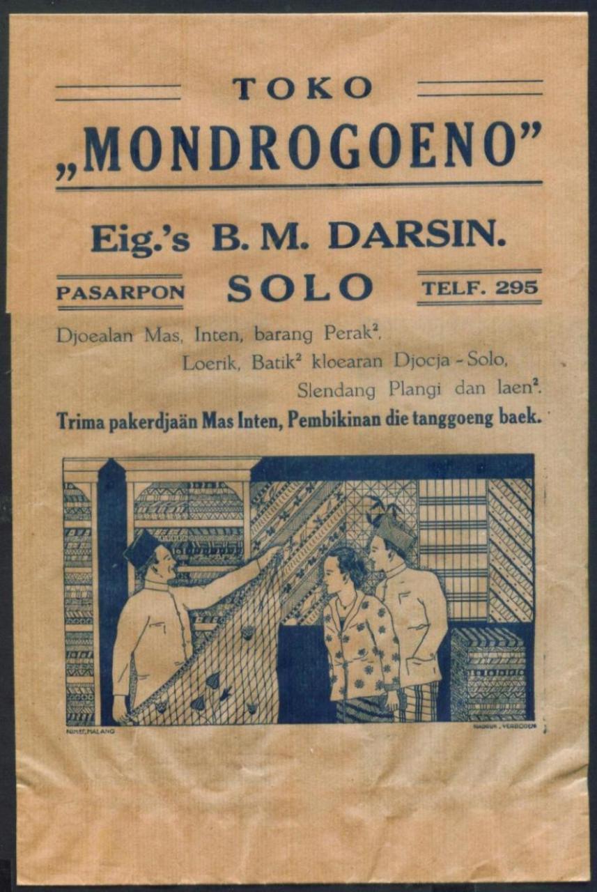 Iklan Kuno Dari Jaman Belanda Dalam Bentuk Wrapper Pembungkus