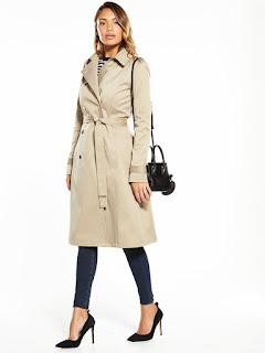v by very skater trench coat