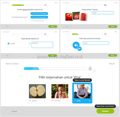 Dulingo App sistem pelajaran