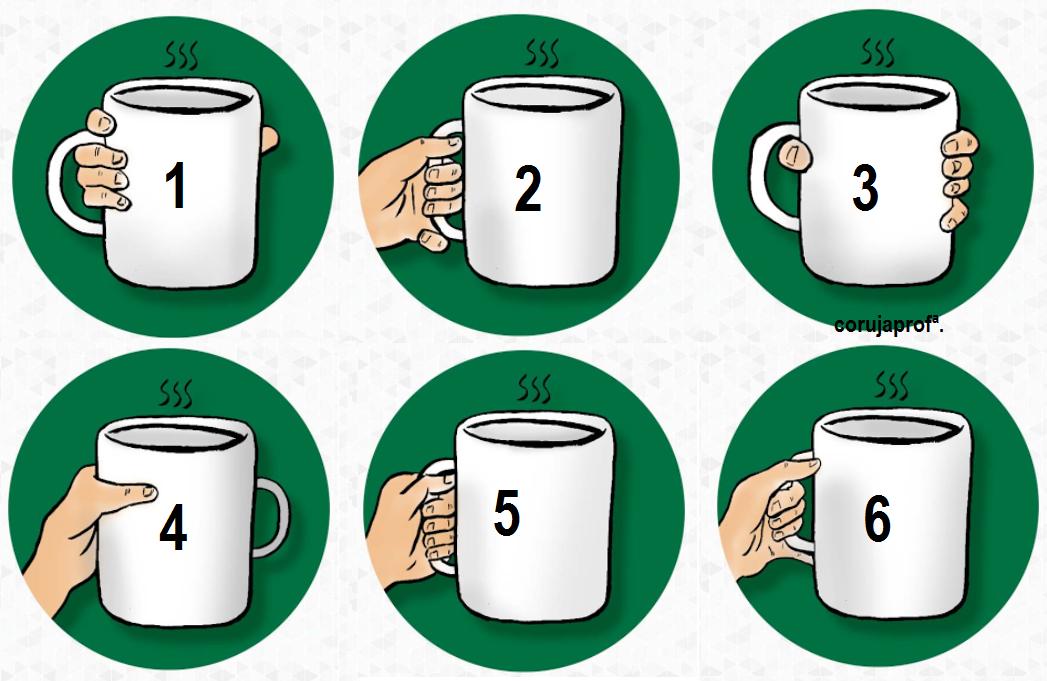 Como você segura sua caneca de café? - Teste de personalidade