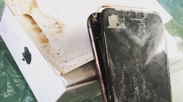Iphone 7 burned