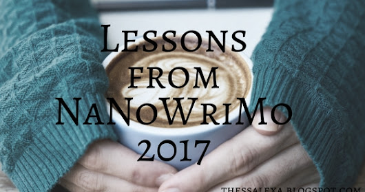 What I Learned from NaNoWriMo 2017