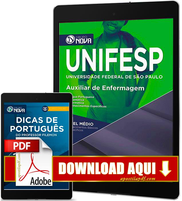 Apostila UNIFESP 2016 PDF Download Auxiliar de Enfermagem