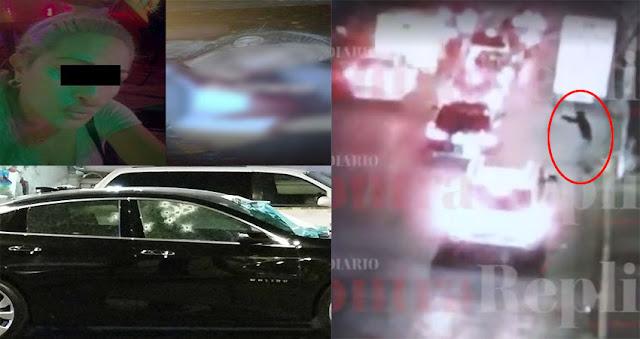 Captan momento en que sicario intercepta y ejecuta a la esposa de un líder narco, el sicario traía la consigna de ejecutar al líder narco pero fallo