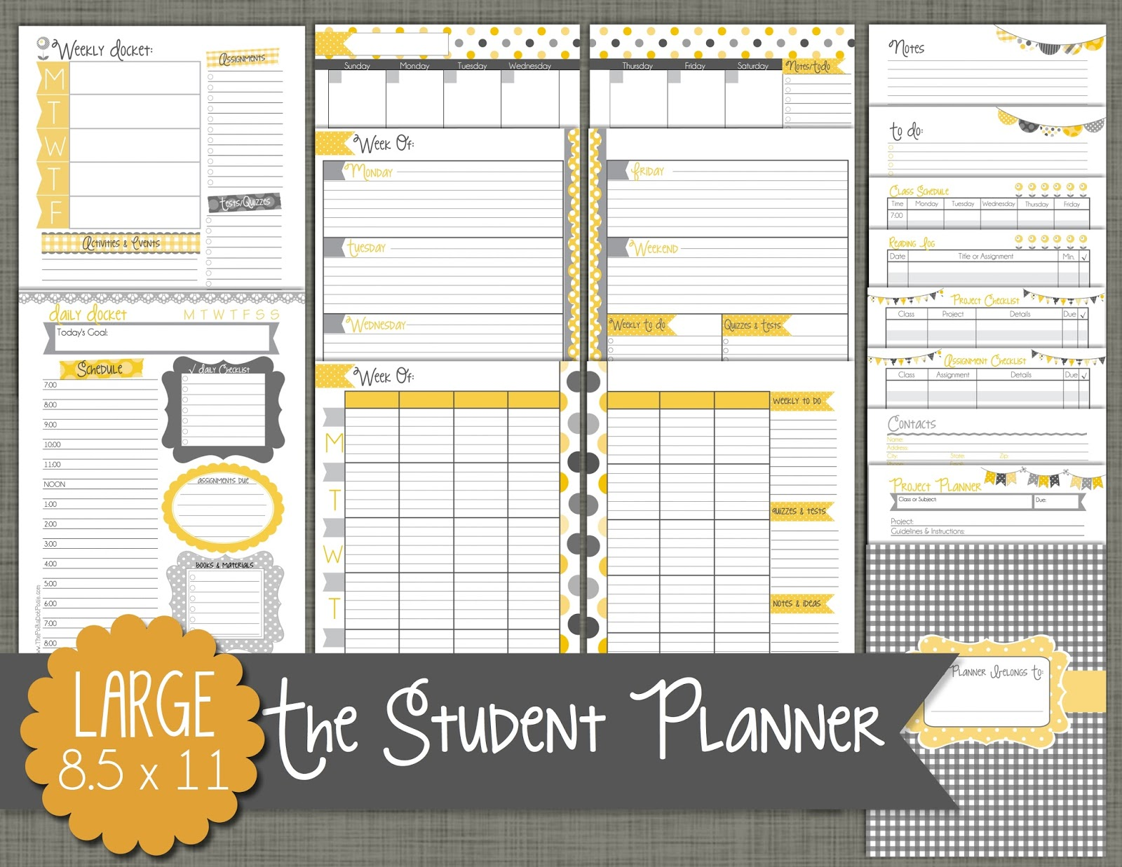 The Polka Dot Posie: Our New Student Planners are Here!