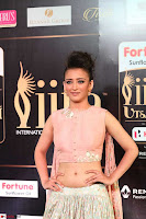 Akshara Haasan in Peachy Crop Top Choli Skirt at IIFA Utsavam Awards 42.JPG