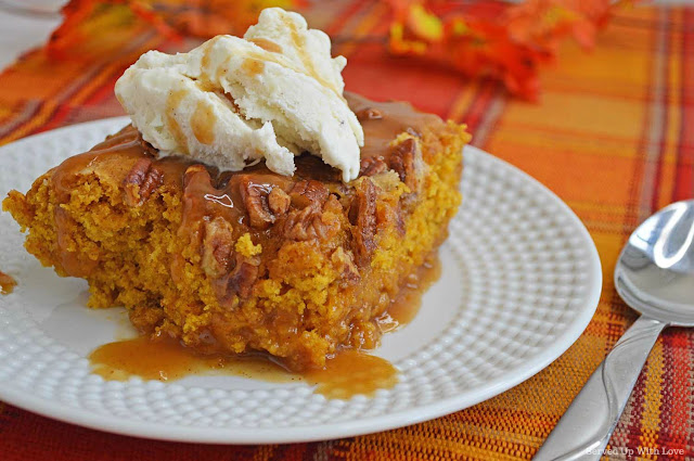 Easy Pumpkin Cobbler recipe from Served Up With Love