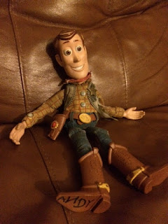 Autistic boy's Woody doll