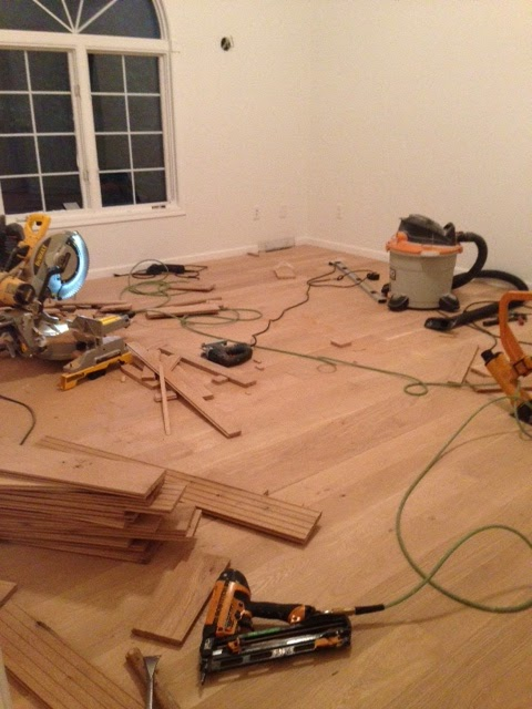 as the hardwood floor was installed in master bedroom