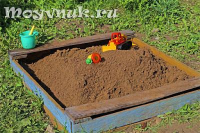 Детская песочница, фото