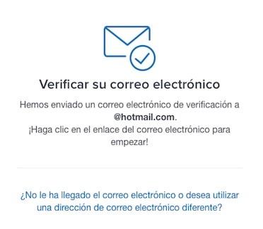 verificar correo electrónico registro coinbase