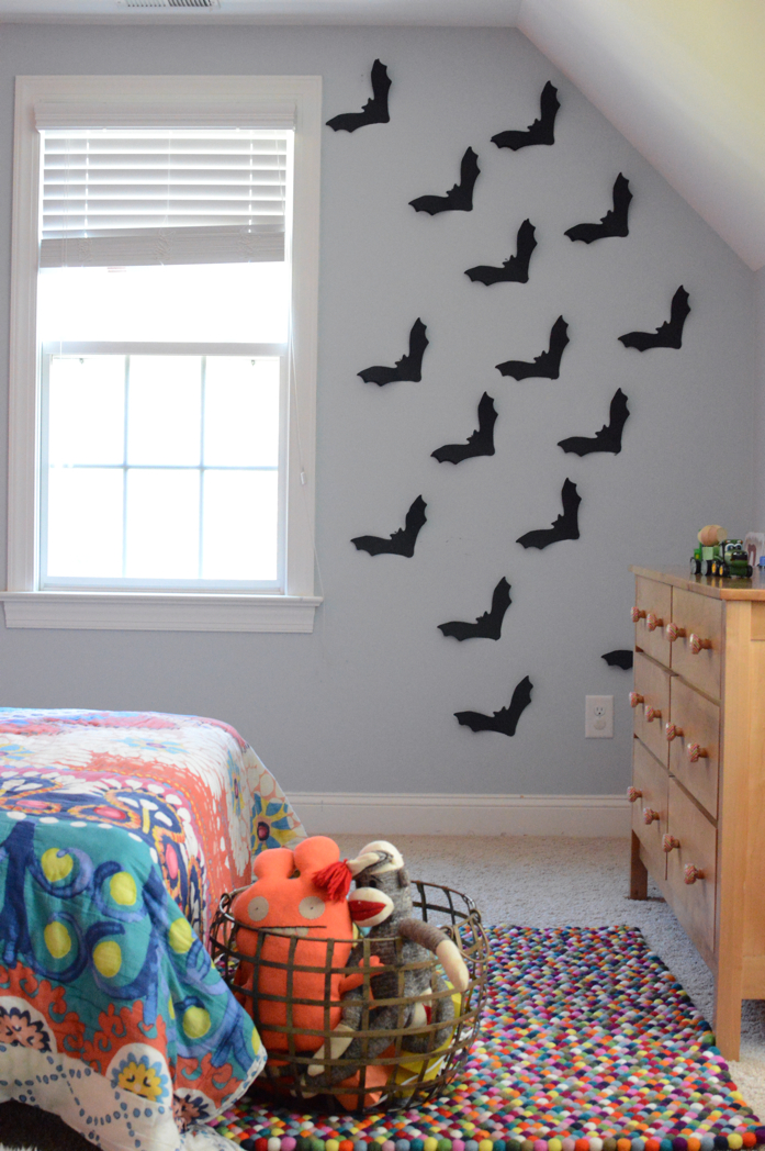 Adhere Bats to the wall with Painter's Tape