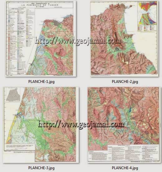الخرائط الجيومورفلوجية لشبه الجزيرة الطنجية Cartes Géomorpholoqiues