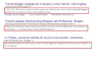 Cara Membuat Deskripsi Penelusuran Blog